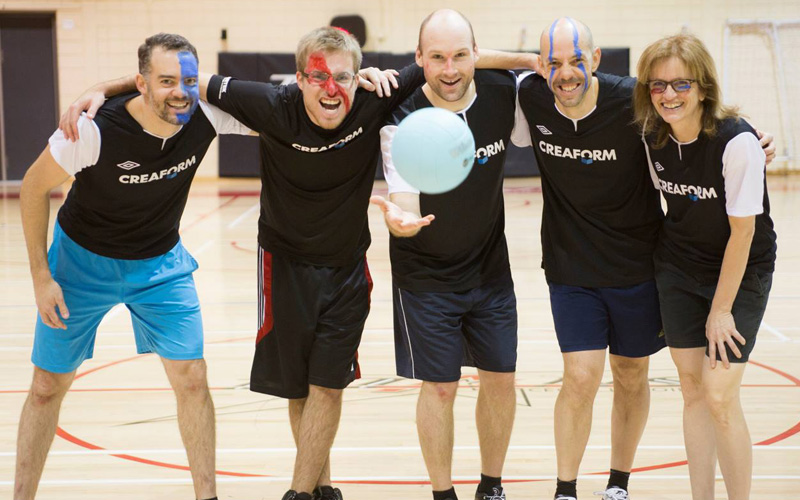 Creaform's employees playing sport