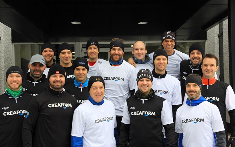 Creaform's winter running team